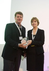 Anthony Sethill with WorldDAB Vice-President and Asia Pacific Chair, Joan Warner, CEO of Commercial Radio Australia